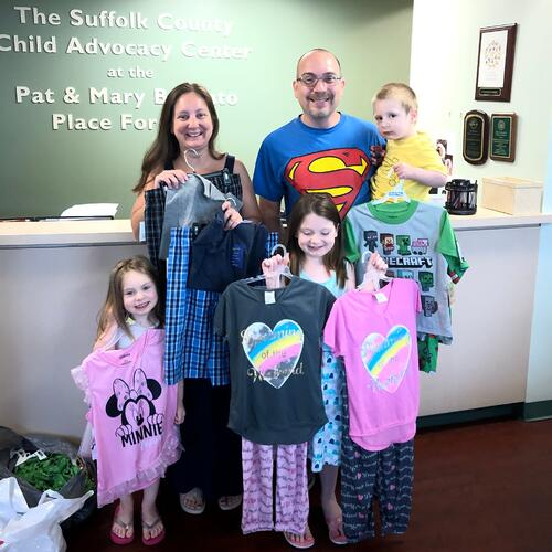 Rose Family Pajama Donation pictures 7-19-19