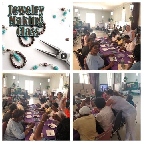 seniors jewelry making